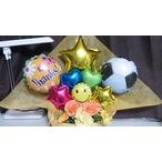 サッカー ボール バルーンアレンジ かご バルーンブーケ 卒園 先生への贈り物 謝恩会
